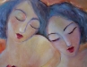 Ladies in Tangerine  Oil  36X24