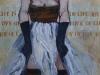 Red Stockinged Girl 30x48 Acrylic