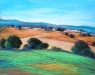 Landscape in Green and Orange 16x20-pastel